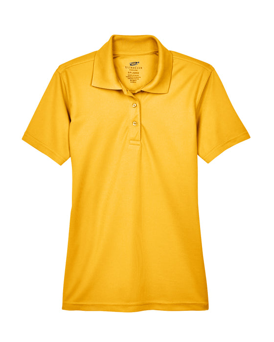 Gold Ladies Dry Wicking Polo With Logo