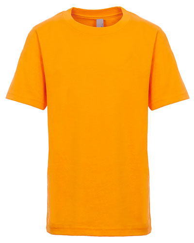 Gold Custom Next Level Youth Boys' Cotton Crew