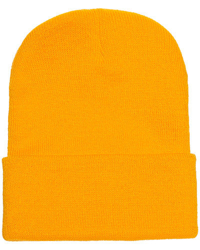 Gold Custom Yupoong Knit Cap