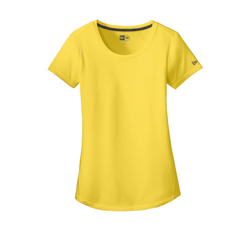 Goldenrod Custom New Era Ladies Series Performance Scoop Tee