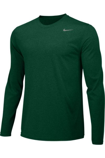 Gorge Green Custom Nike Dri-FIT Long Sleeve T-Shirt