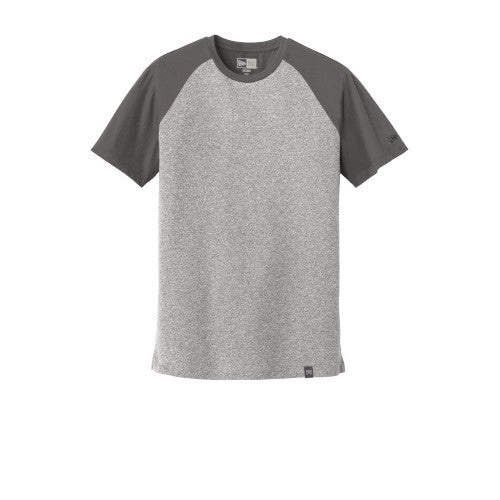 Graphite/ Light Graphite Twist Custom New Era Heritage Blend Varsity Tee