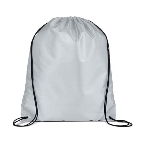 Gray Custom Drawstring Backpack