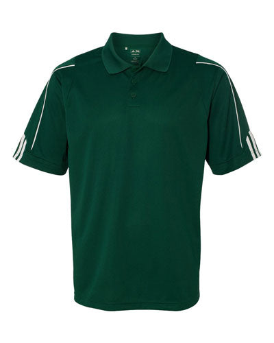 Green Custom Adidas 3 Stripe Cuff Polo