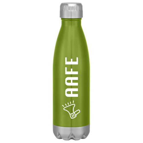 Green Custom Cola Shaped Stainless Steel Bottle