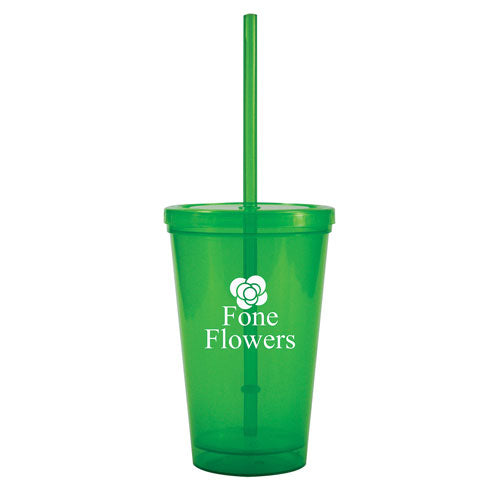 Green Custom Double Wall Tumbler