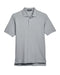Grey Custom Heather Devon & Jones Pima Pique Polo With Logo