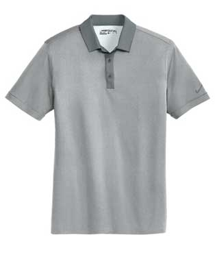 Grey Heather Nike Dri-FIT Heather Pique Modern Fit Polo With Logo