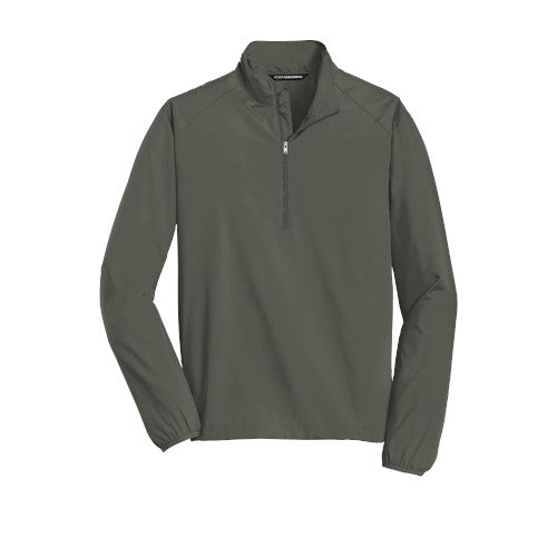 Grey Steel Custom Half Zip Windshirt Jacket