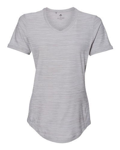 Grey Custom Adidas - Women's Melange Tech T- Shirt