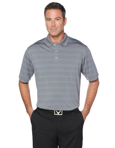 Grey Custom Callaway Textured Performance Polo