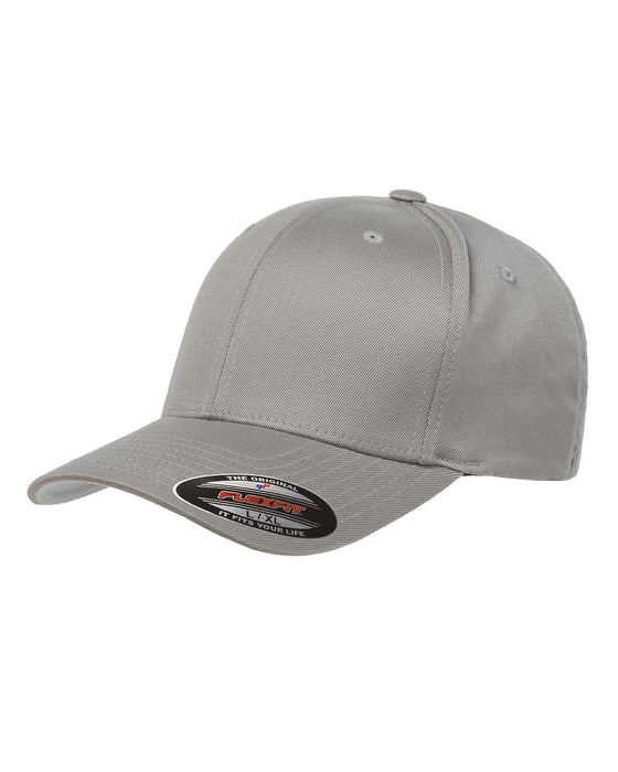 Grey Custom Yupoong Flexfit Cap Hat