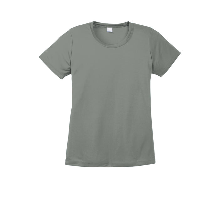 Grey Concrete Custom Ladies Dry Performance T-Shirt