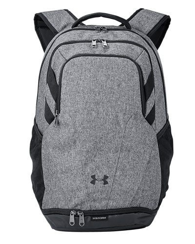 Graphite Heather/ Black Custom Under Armour Unisex Hustle II Backpack