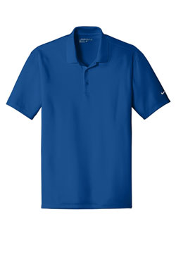Gym Blue Nike Dri-FIT Players Polo with Flat Knit Collar With Logo