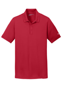 Gym Red Nike Dri-FIT Solid Icon Pique Modern Fit Polo With Logo