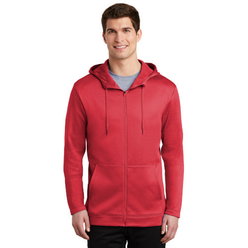 Gym Red Custom Nike Therma-FIT Full Zip Hoodie with logo