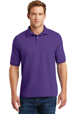 Custom Hanes Jersey Knit Polo With Logo