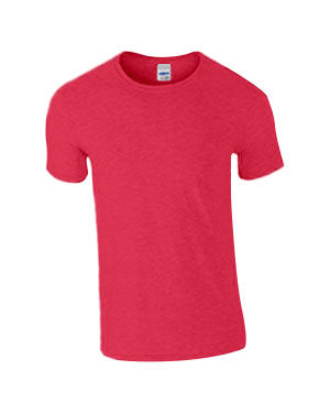 Heather Red Custom Gildan Soft Style T-Shirt