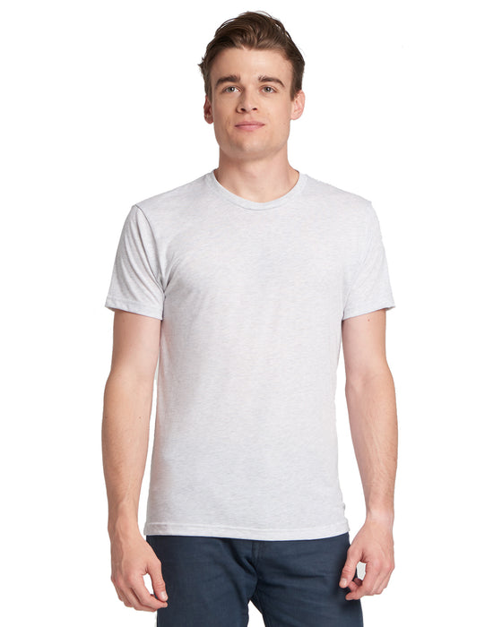 Heather White Custom Next Level TriBlend T-Shirt