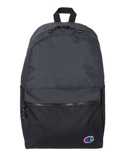 Heather Black/ Black Custom Champion Script Backpack