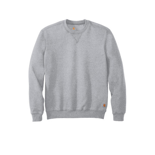 Heather Grey Custom Carhartt Midweight Crewneck Sweatshirt