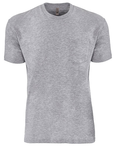 Heather Grey Custom Next Level Unisex Pocket Crew
