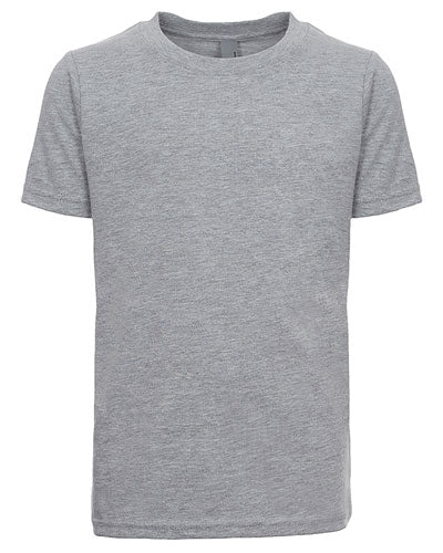 Heather Grey Custom Next Level Youth Boys' Cotton Crew