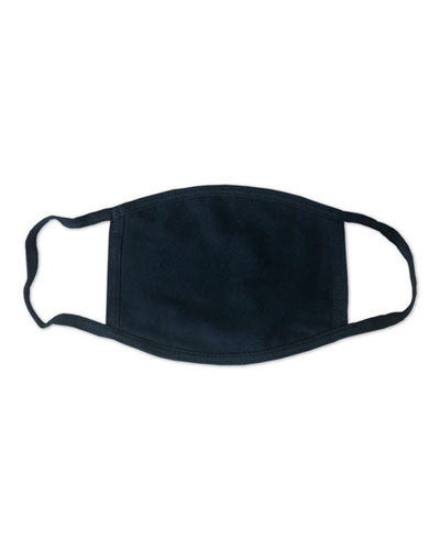 Heather Navy Custom Bayside USA-Made 100% Cotton Face Mask