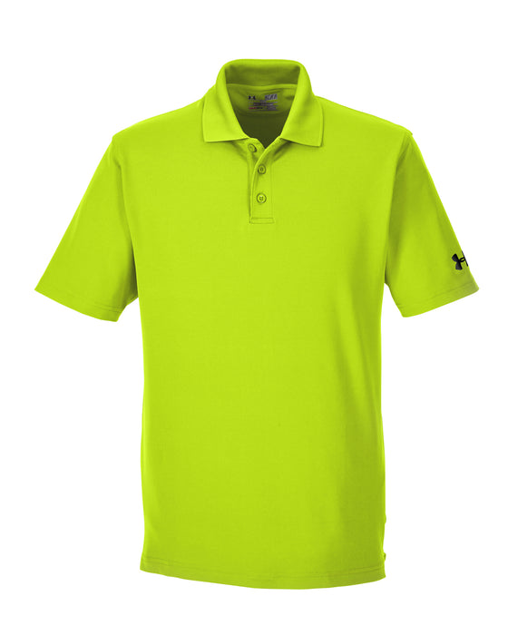Hi Vis Yellow Custom Under Armour Performance Polo With Logo