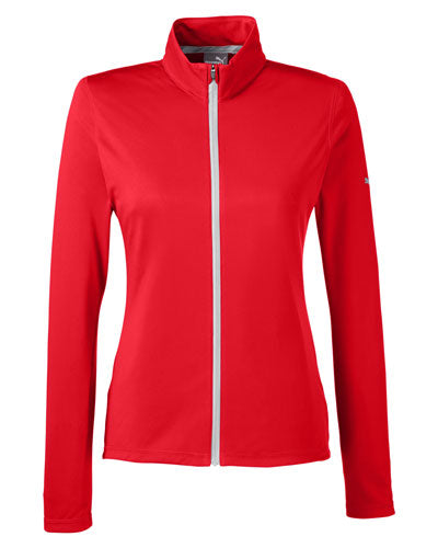High Risk Red Custom Puma Golf Ladies' Icon Full-Zip