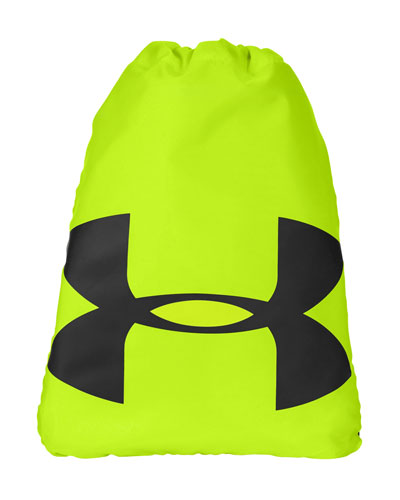 High Viz Yellow Custom Under Armour Cinch Sack