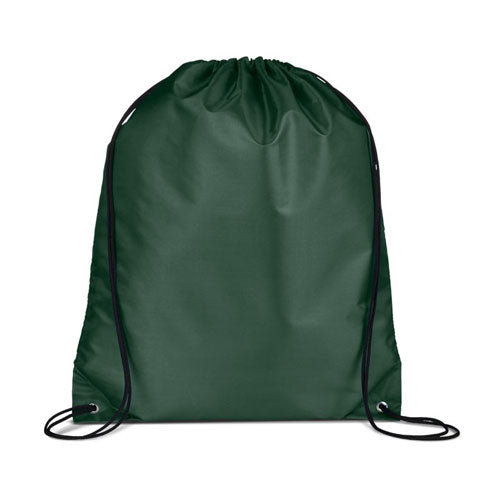 Hunter Green Custom Drawstring Backpack
