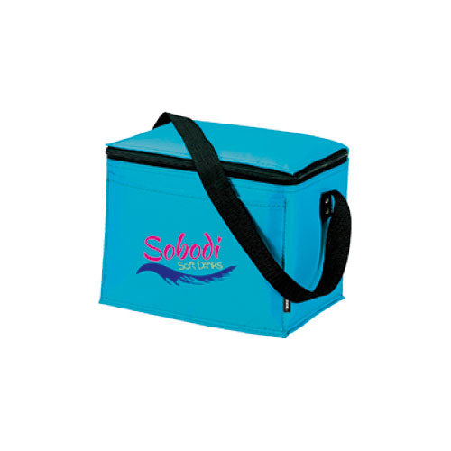 Ice Blue Custom 6 Pack Cooler Bag