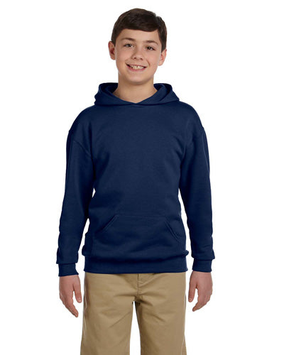 J Navy Custom Jerzees Youth Hooded Sweatshirt