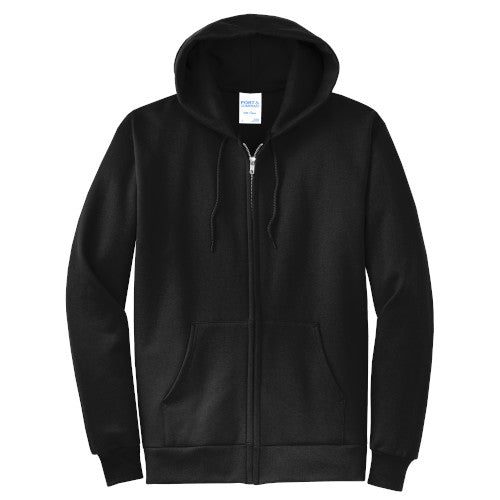 Jet Black Custom Full Zip Hooded Sweatshirt
