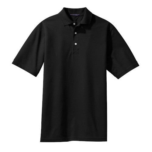 Jet Black Rapid Dry Polo With Logo