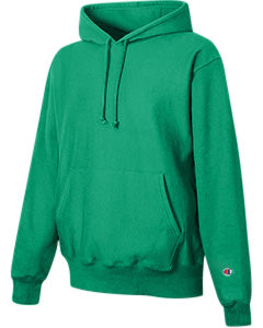Kelly Green Custom Champion Heavyweight Hooded Sweatshirt