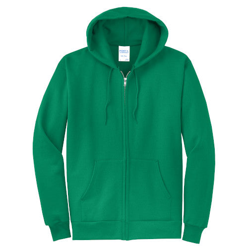 Kelly Custom Full Zip Hooded Sweatshirt