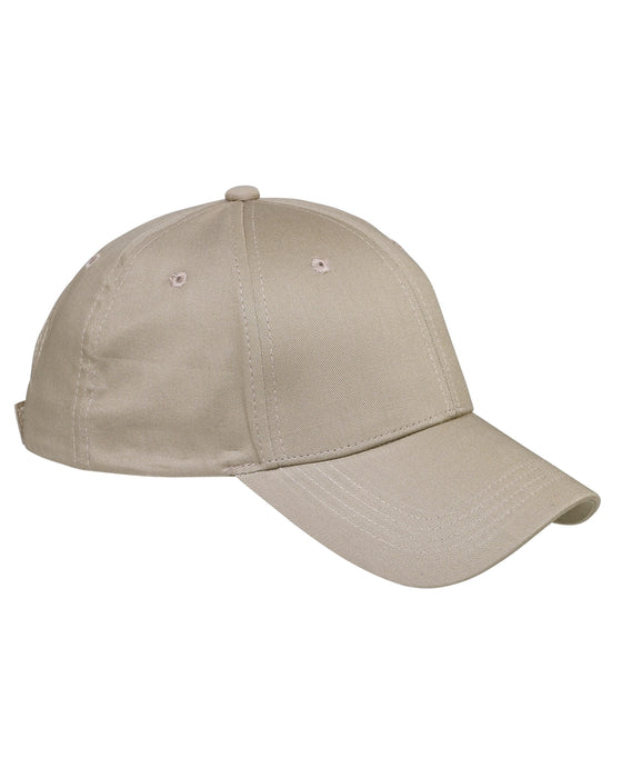 Khaki Custom Structured Embroidered Hat