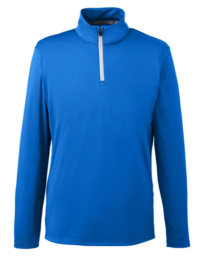 Lapis Blue Red Custom Puma Golf Men's Icon Quarter-Zip