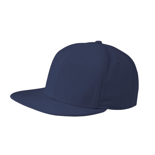 League Navy Custom New Era Original Fit Flat Bill Snapback Cap