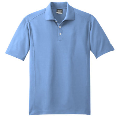 Light Blue Nike Dri-FIT Golf Shirt With Logo