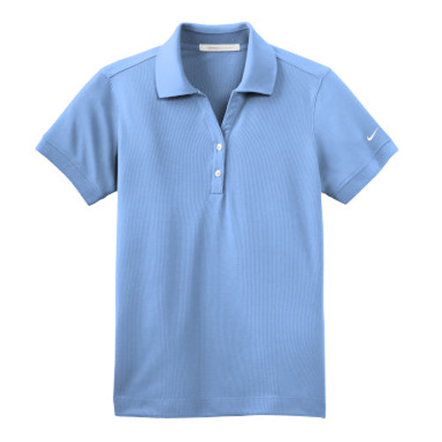 Light Blue Nike Dri-FIT Ladies Golf Shirt With Logo