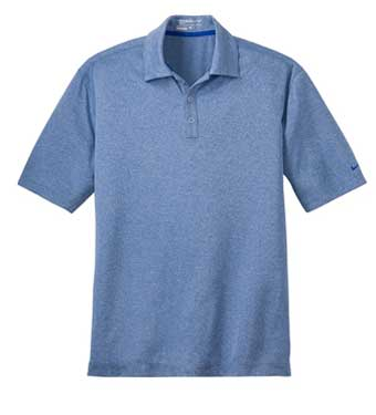 Light Game Royal Nike Dri-FIT Heather Polo With Logo