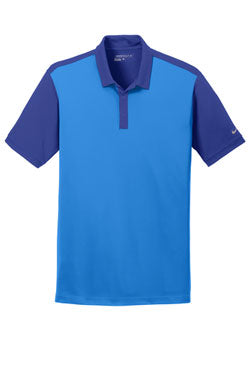 Light Photo Blue/Deep Royal Nike Dri-FIT Colorblock Icon Modern Fit Polo With Logo