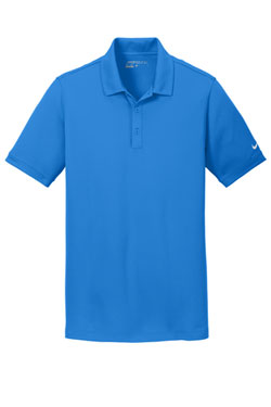 Light Phot Blue Nike Dri-FIT Solid Icon Pique Modern Fit Polo With Logo