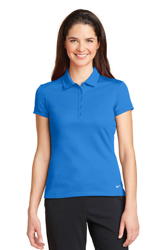Nike Ladies Dri-FIT Solid Icon Pique Modern Fit Polo With Logo