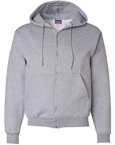 Light Steel Custom Champion Full Zip Hoodie Sweatshirt