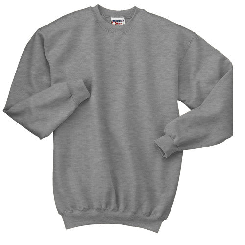 Light Steel Custom Hanes Crewneck Sweatshirt